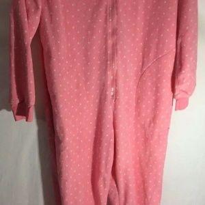Womens Nick & Nora Sz Small S Pink Bunny Pajamas